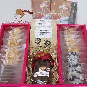 伴手禮禮盒-極緻禮盒(6入餅乾,6入濾泡式精品咖啡,1罐松露杏仁可可)